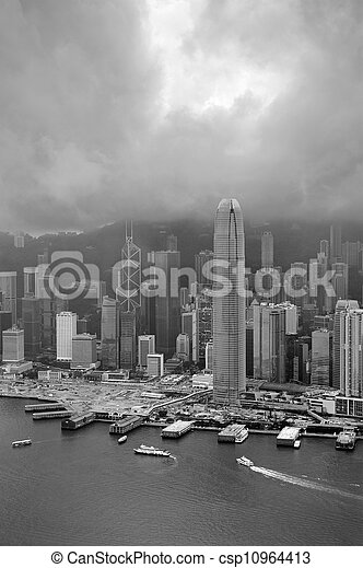Hong Kong aerial view - csp10964413