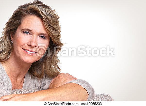 Happy senior woman. - csp10965233