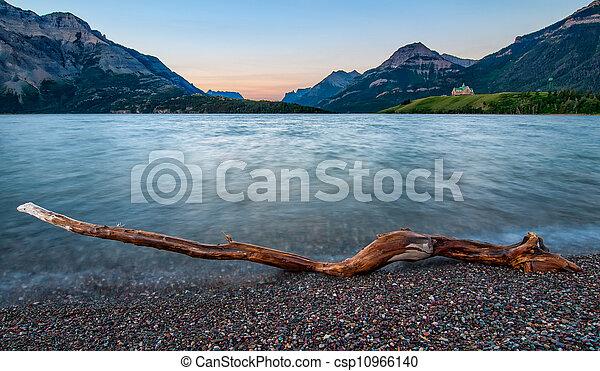 Waterton Lakes Log - csp10966140