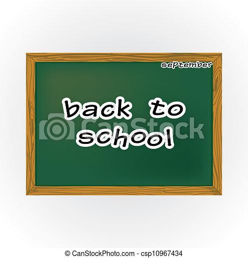Tisch schule clipart  Zeichnungen von tisch, schule, thema, briefe, zurück - Back, zu ...