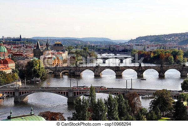 Prague bridges - csp10968294