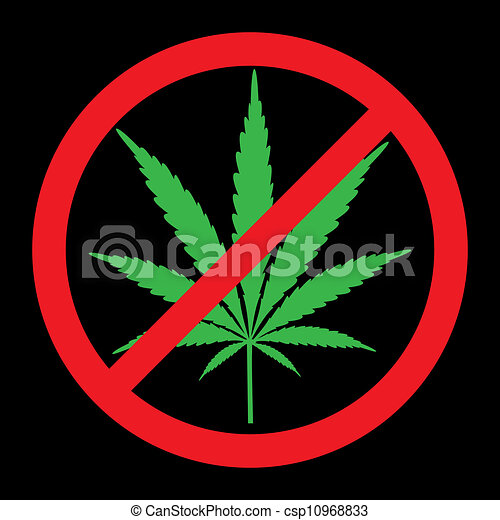 Drawings of No cannabis, drugs free, symbolic illustration ...