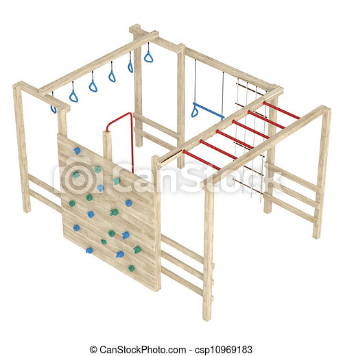 Stock Illustration of Jungle gym or climbing frame ...
