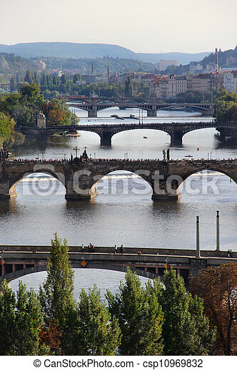 Prague bridges  - csp10969832