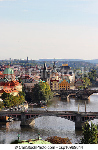 Prague bridges  - csp10969844