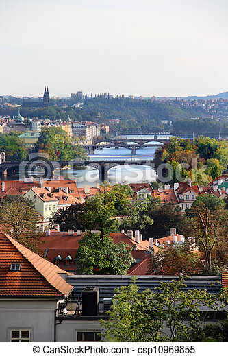 Prague bridges  - csp10969855