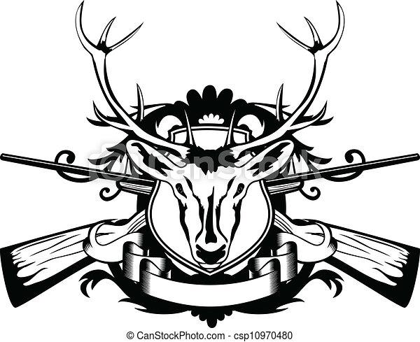 wild boar skull drawing