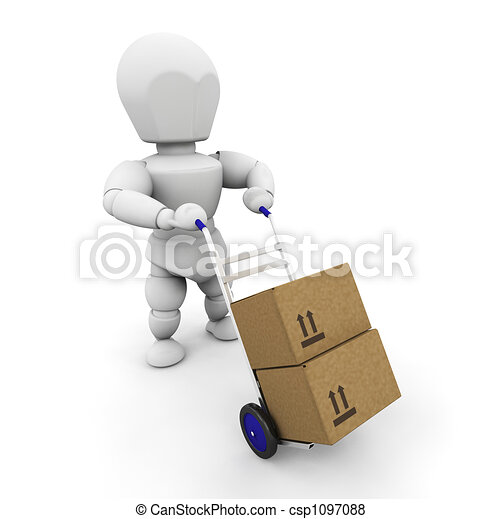 Moving boxes - csp1097088