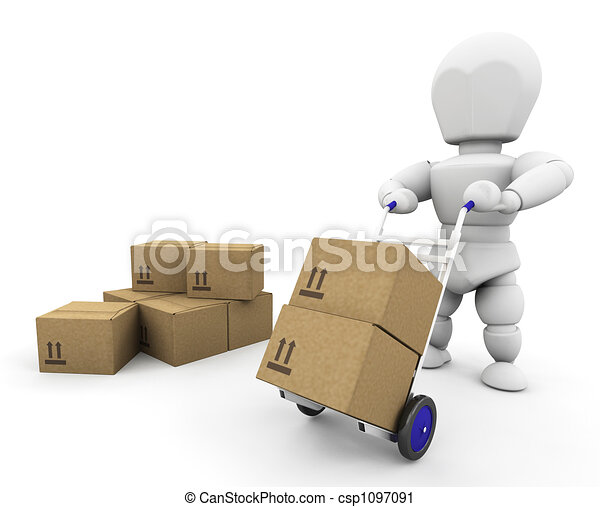 Moving boxes - csp1097091
