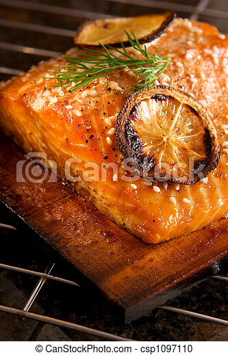 Grilled Salmon - csp1097110