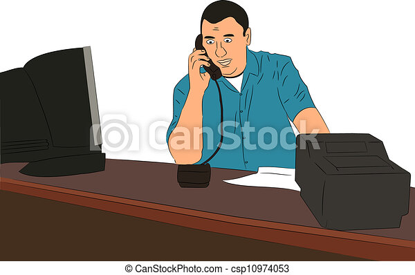 Business Owners Clipart Small Business Owner at Desk