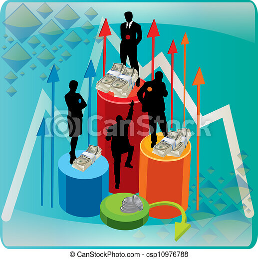 business people aiming high - csp10976788