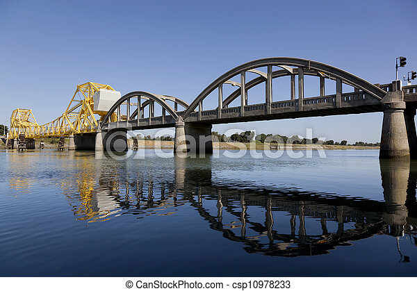 Rural Raising Cantilever Bridge - csp10978233