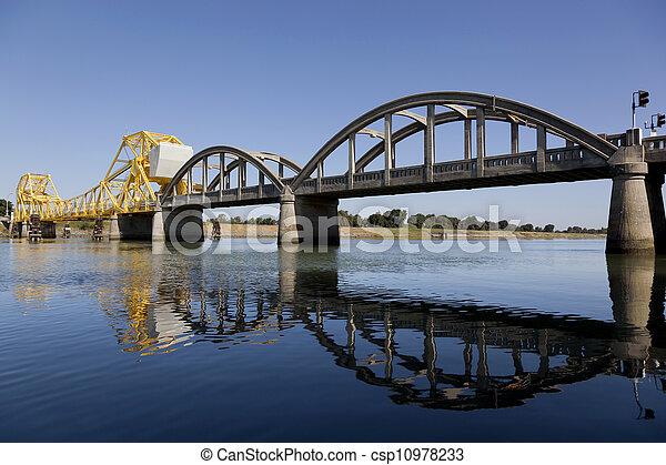Rural Raising Cantilever Bridge - csp10978233