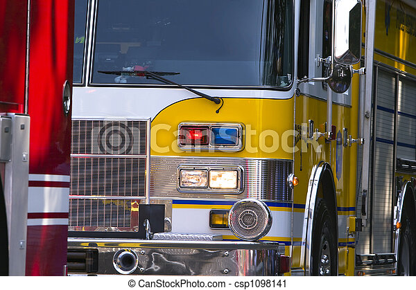 Emergency Vehicles in Parade - csp1098141