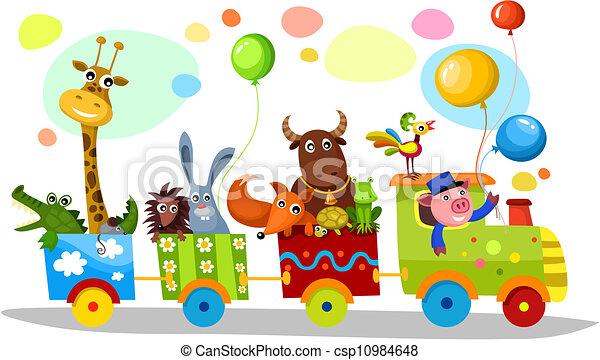 cute train - csp10984648