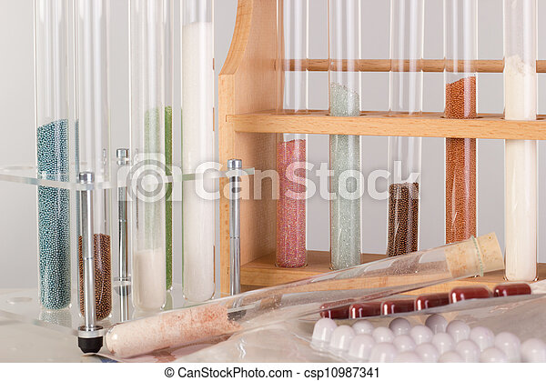 Test tubes in a pharmaceutical laboratory - csp10987341
