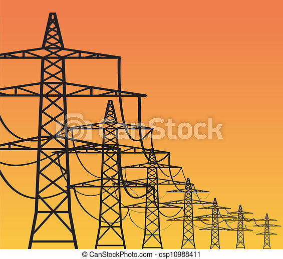 Clipart Electricity Pylon Electricity Pylons Clipart