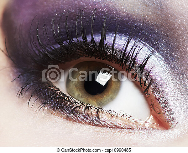 Fashion woman eye makeup. - csp10990485
