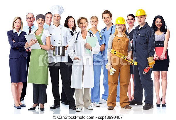 Group of industrial workers. - csp10990487
