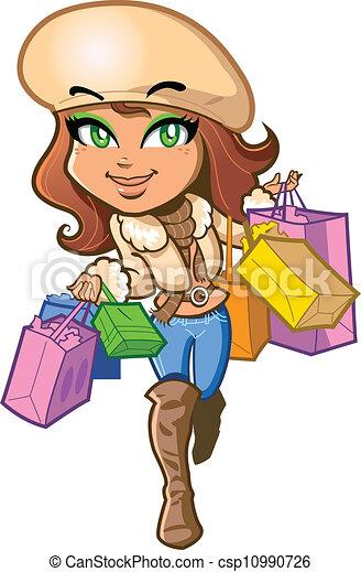 Shopping Girl - csp10990726