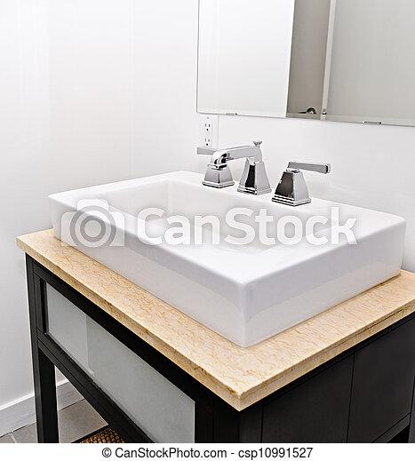 Stock Photo of Bathroom sink - Closeup interior of ...
