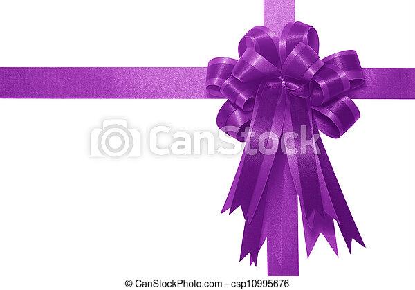 Purple satin gift bow - csp10995676