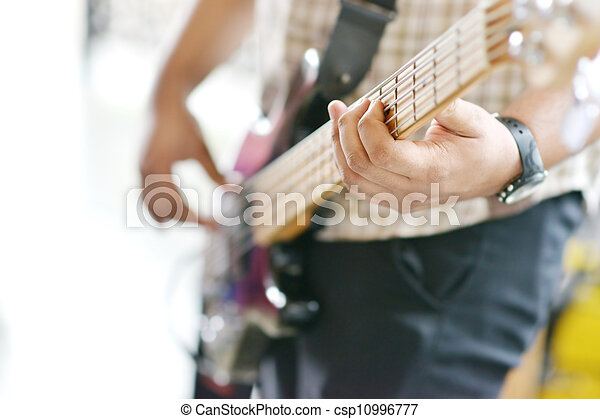 Man playing guitar - csp10996777