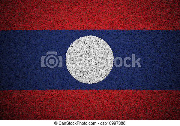 The Laotian flag - csp10997388
