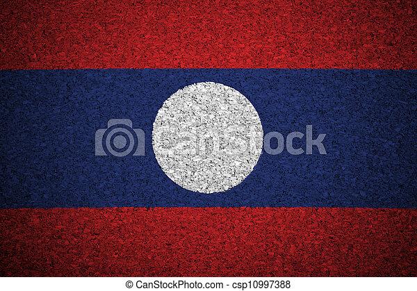The Laotian flag - csp10997388