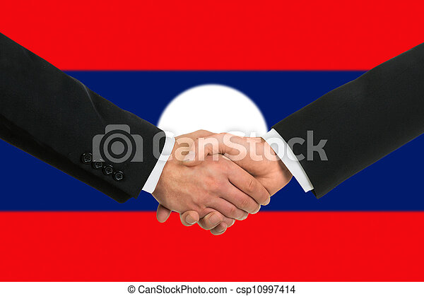 The Laotian flag - csp10997414