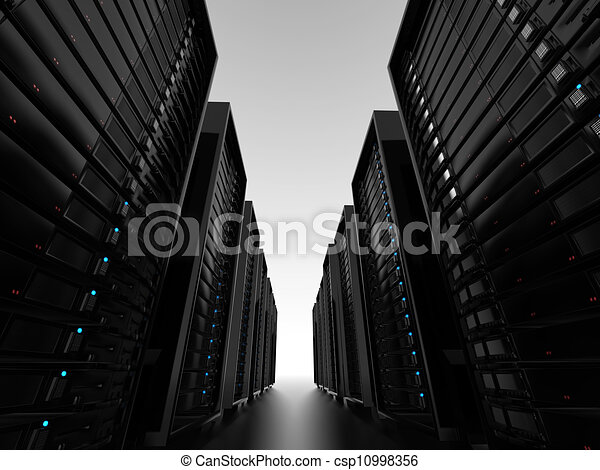 Data center server clusters  - csp10998356