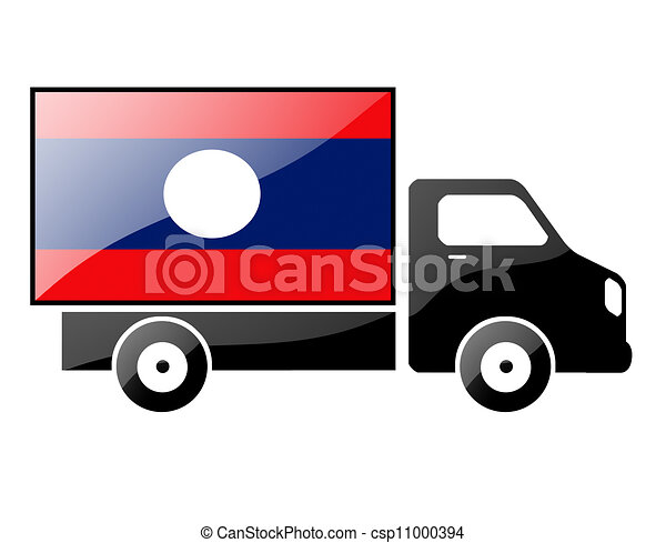 The Laotian flag - csp11000394