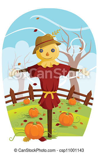 Scarecrow for Fall harvest - csp11001143