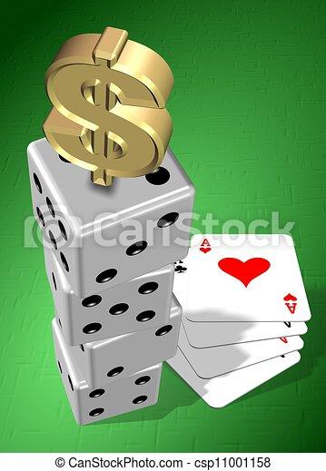 Gambling money - csp11001158