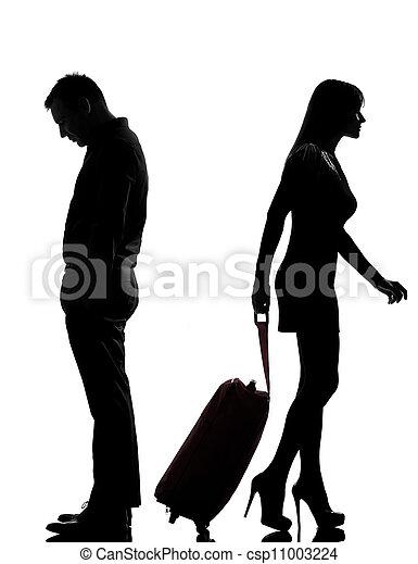 photo de femme couple une s paration conflit homme une csp11003224 recherchez des. Black Bedroom Furniture Sets. Home Design Ideas