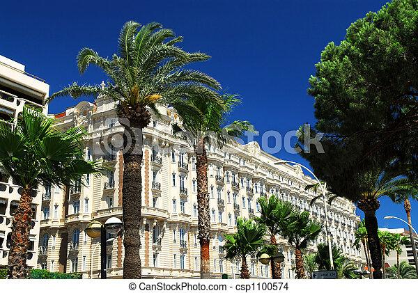 Croisette promenade in Cannes - csp1100574