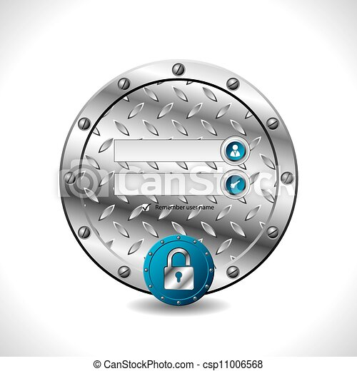 Abstract industrial login screen design - csp11006568