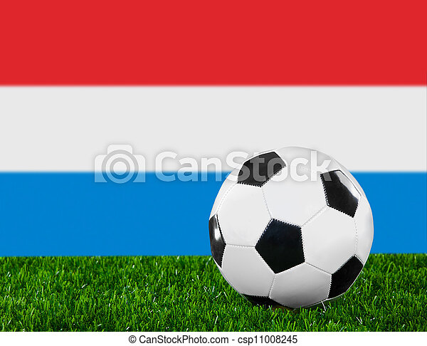 The Luxembourg flag - csp11008245
