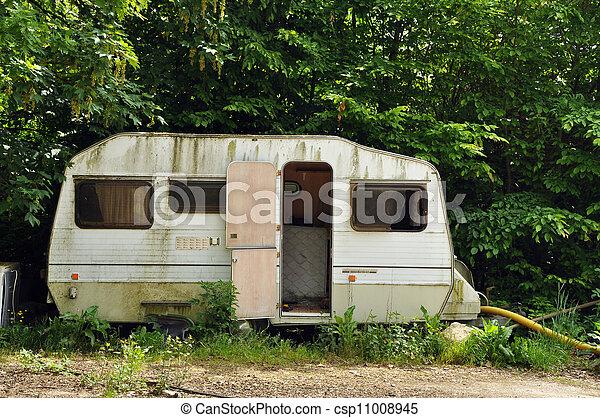 vieux, caravane - csp11008945