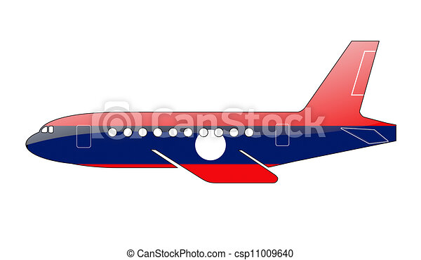 The Laotian flag - csp11009640