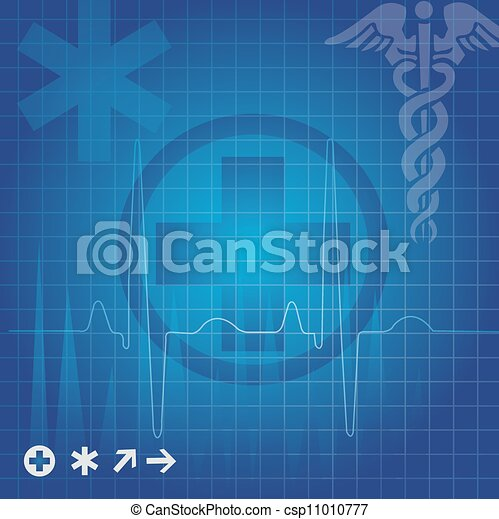 Medical symbols, illustration - csp11010777