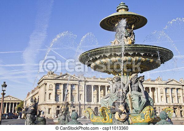 Place de la Concorde, Paris - csp11013360