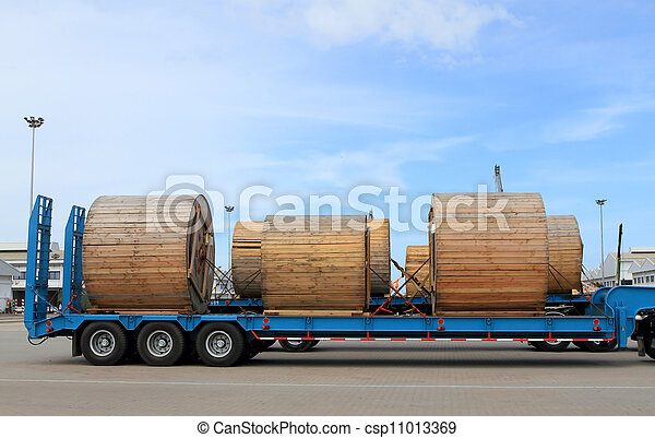 Transportation of metal products on road - csp11013369