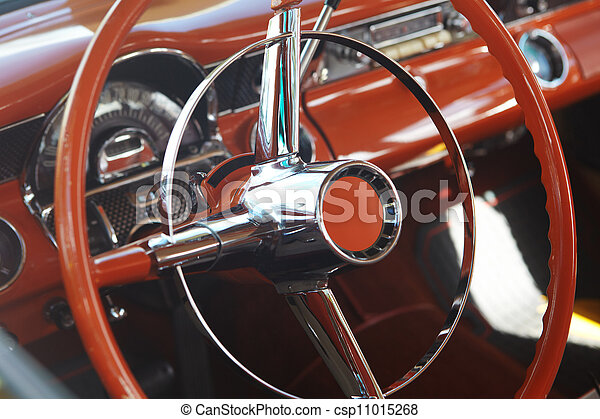 Detail of retro car  - csp11015268
