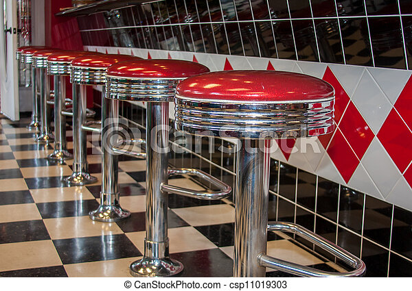 Stock Photography Of Classic Diner Bar Stools Classic
