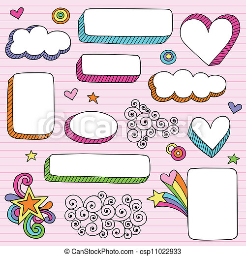 Line art eps picture pictures graphic graphics drawing drawings - Vectors Of Notebook Doodle Frames Amp Borders Groovy