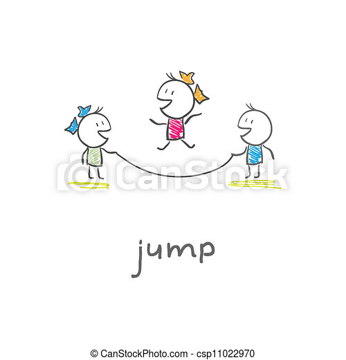 Children playing jumping rope - csp11022970