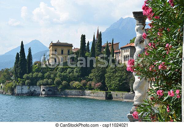 View to the lake Como from villa Monastero. Italy  - csp11024021