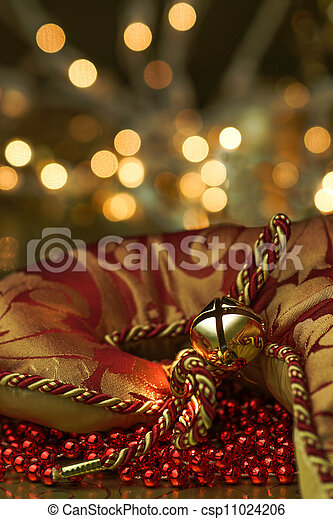 Stocking Bell Holiday Background - csp11024206